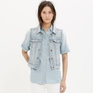 Madewell Jean Vest in Cora Wash